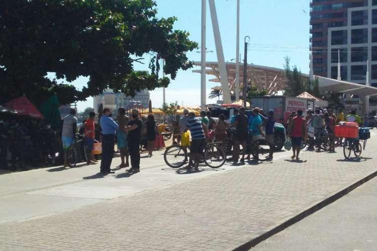 Homem foi assassinado na avenida Beira Mar na manhã desta quinta, 23. Foto: O POVO/Whatsapp (Foto: Foto: O POVO/Whatsapp)