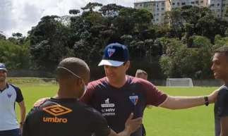 Rogério Ceni fez visita a treinamento do Sport (Foto: Reprodução/Instagram)