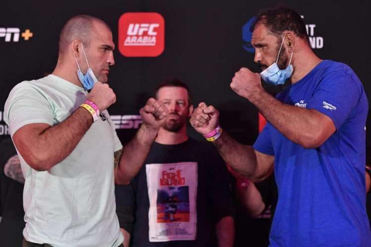 Maurício Shogun e Rogério Minotouro lutam pela categoria meio-pesado (Foto: Twitter/UFC/Reprodução)
