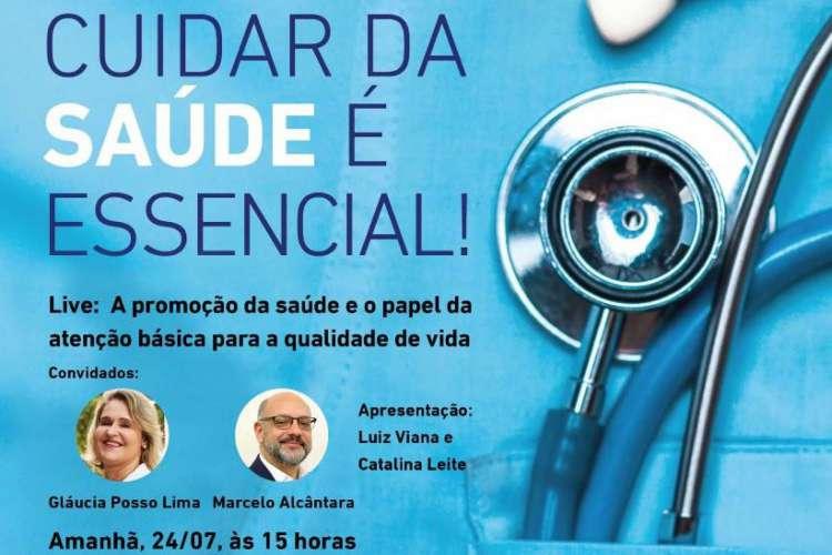 Live do projeto Nova Saúde será realizada nesta sexta-feira, às 15 horas (Foto: Divulgação)