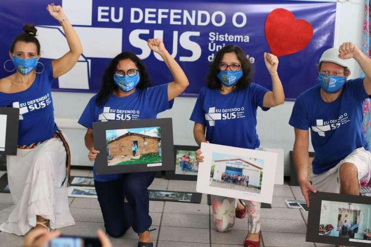 Profissionais de saúde, coletivos e movimentos sociais realizam manifestação e programação cultural online (Foto: Fabio Lima)