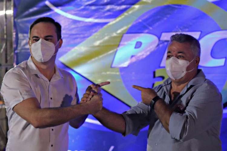 Capitão Wagner e Thomaz Holanda: apoio do PTC  (Foto: Divulgação)