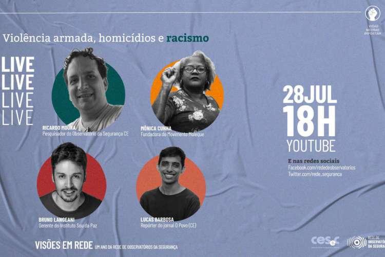 Evento acontece nesta terça-feira, 28, às 18 horas, e terá participação de repórter e de colunista do O POVO (Foto: Divulgação)