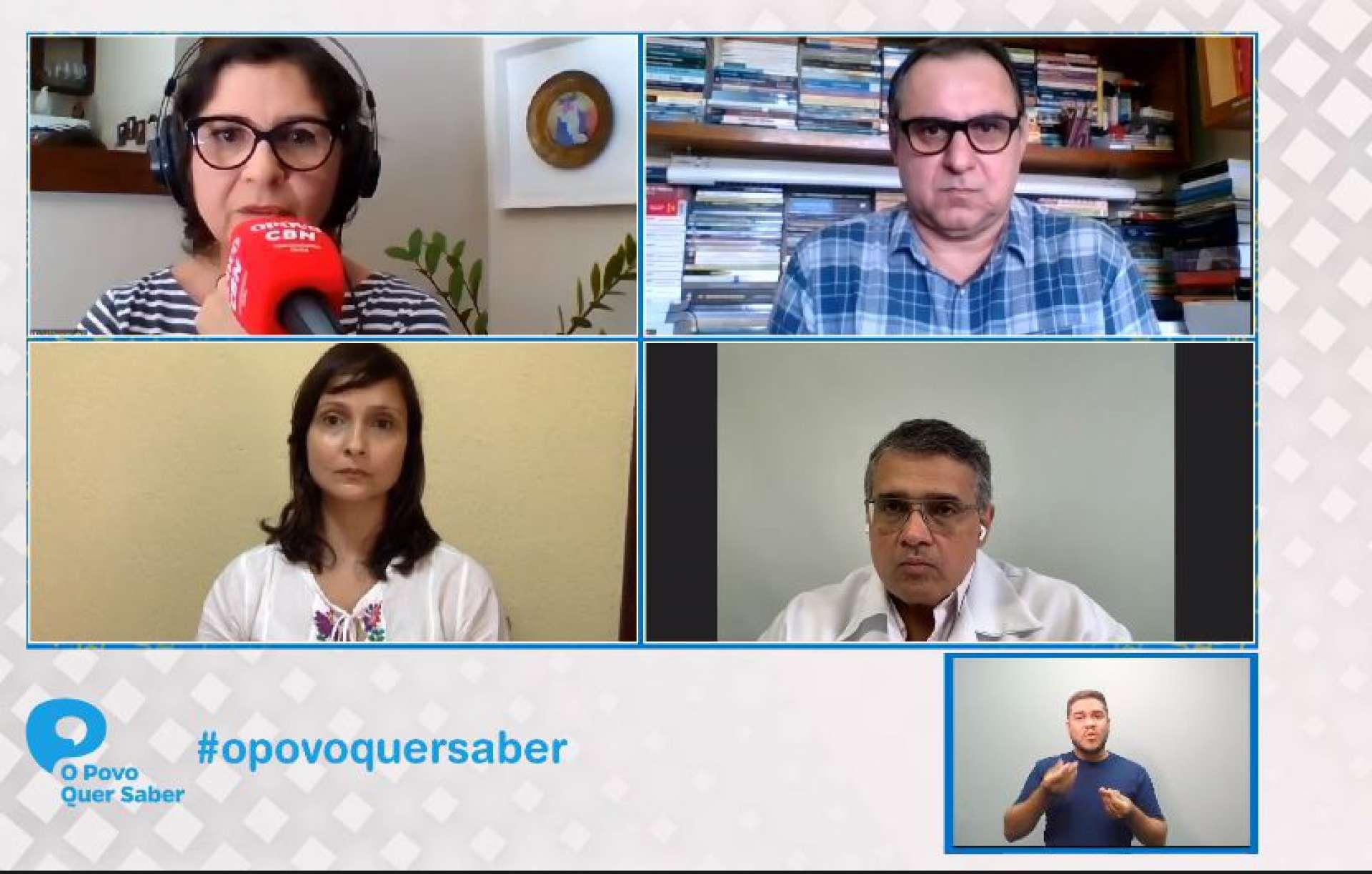 JORNALISTA Maísa Vasconcelos e convidados no primeiro programa da 14ª edição