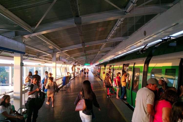 Estação de metrô da Parangaba está em fase de teste de wi-fi gratuito para os passageiros (Foto: DIVULGAÇÃO ASCOM Metrofor)