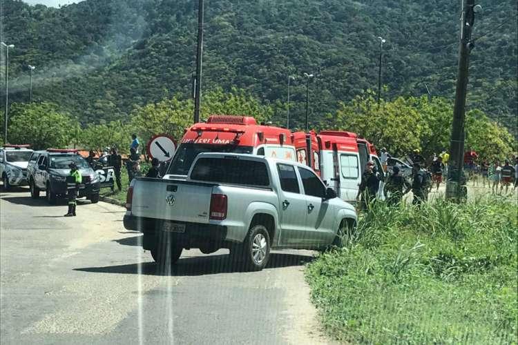 o agente penitenciário morreu dentro da ambulância  (Foto: via WhatsApp O POVO )