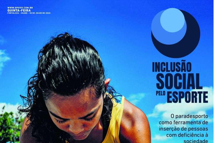 Capa da terceira edição do caderno especial Inclusão social pelo esporte (Foto: Reprodução)