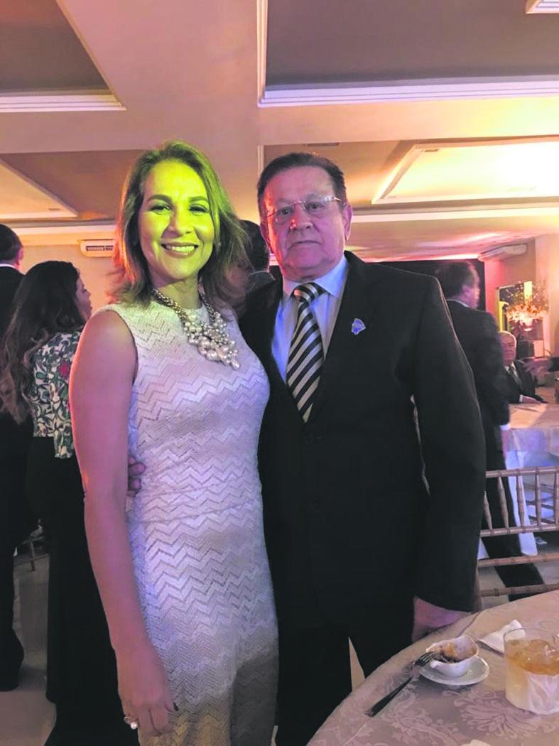 Ivanilda e dr Álvaro Andrade, tocador-mor do Crio