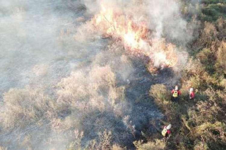 Foram precisos 13 mil litros de água para apagar as chamas (Foto: Divulgação/CBM)