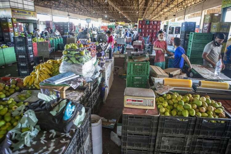 Queda nos preços das frutas chega a 38% na Ceasa (Foto: FCO FONTENELE)