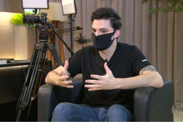 Felipe concedeu entrevista e comentou sobre os ataques que vem recebendo (Foto: Reprodução/TV Globo)