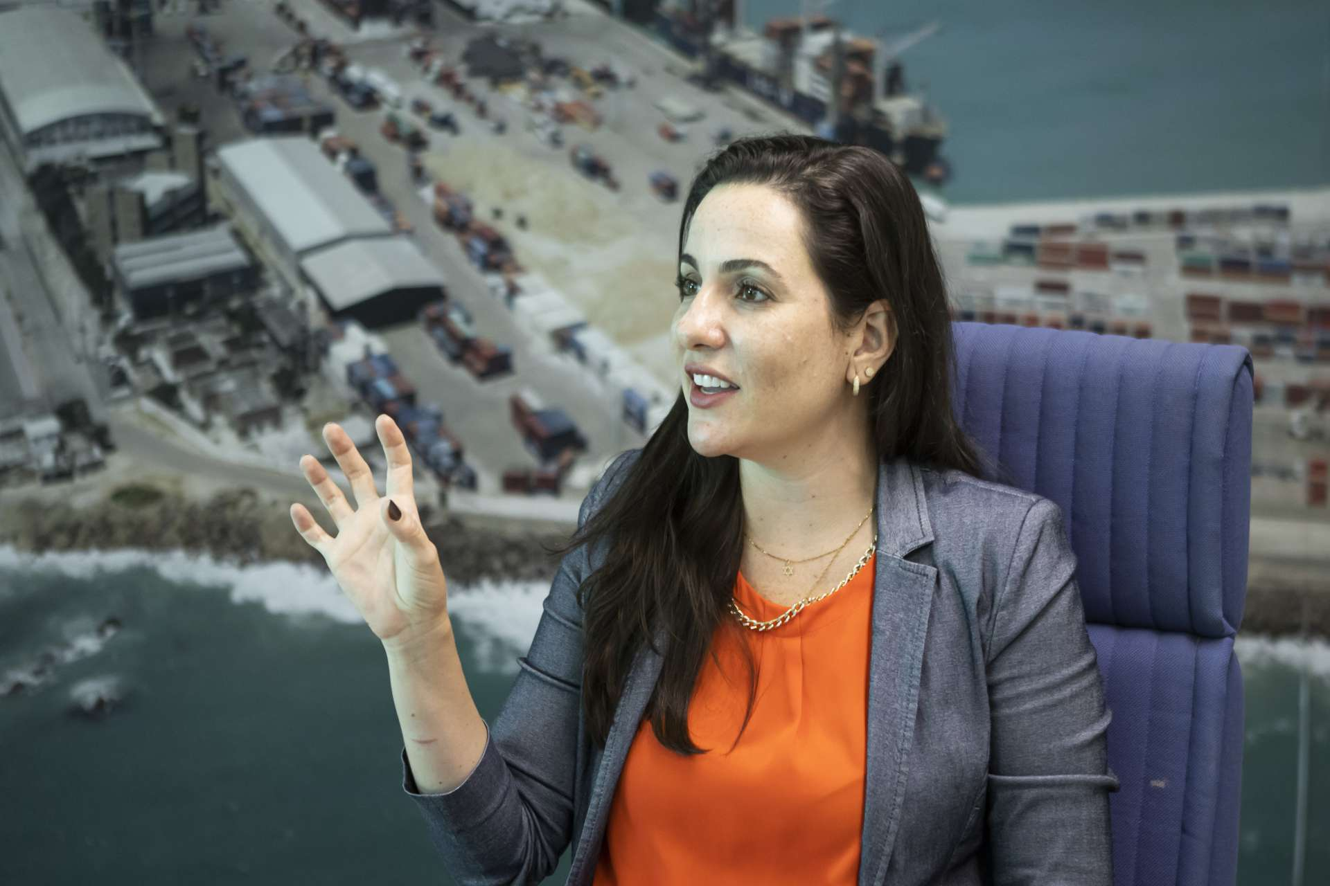 Diretora-presidente da Companhia Docas do Ceará, Mayhara Chaves