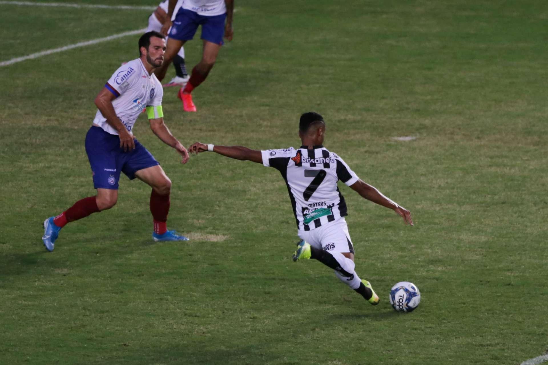 Gol de Mateus Gonçalves no primeiro jogo permite que o Ceará seja campeão até mesmo com derrota (Foto: Felipe Santos/cearasc.com)