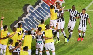 Bahia em 04 de agosto de 2020, Comemoracao do gol de Cleber, na final da copa do nordeste entre Ceara x Bahia. (Foto Pedro Chaves/FCF)