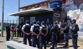 Inauguração da 31a base do Programa de Proteção Territorial e Gestão de Riscos (Proteger), no bairro Granja Lisboa, na manhã de terça, 4 de agosto. Foto: Asscom/SSPDS