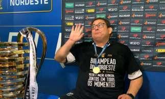 Guto Ferreira, campeão da Copa do Nordeste com o Ceará