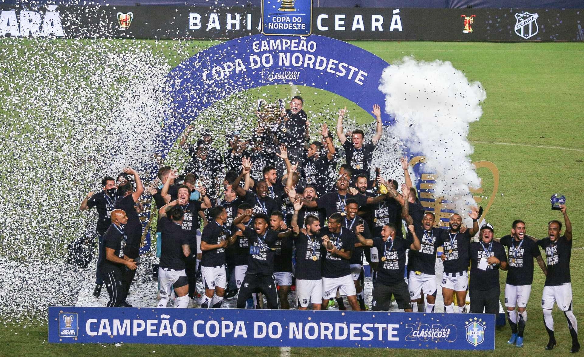Ceará foi o campeão da Copa do Nordeste em 2020 (Foto: Pedro Chaves/FCF)