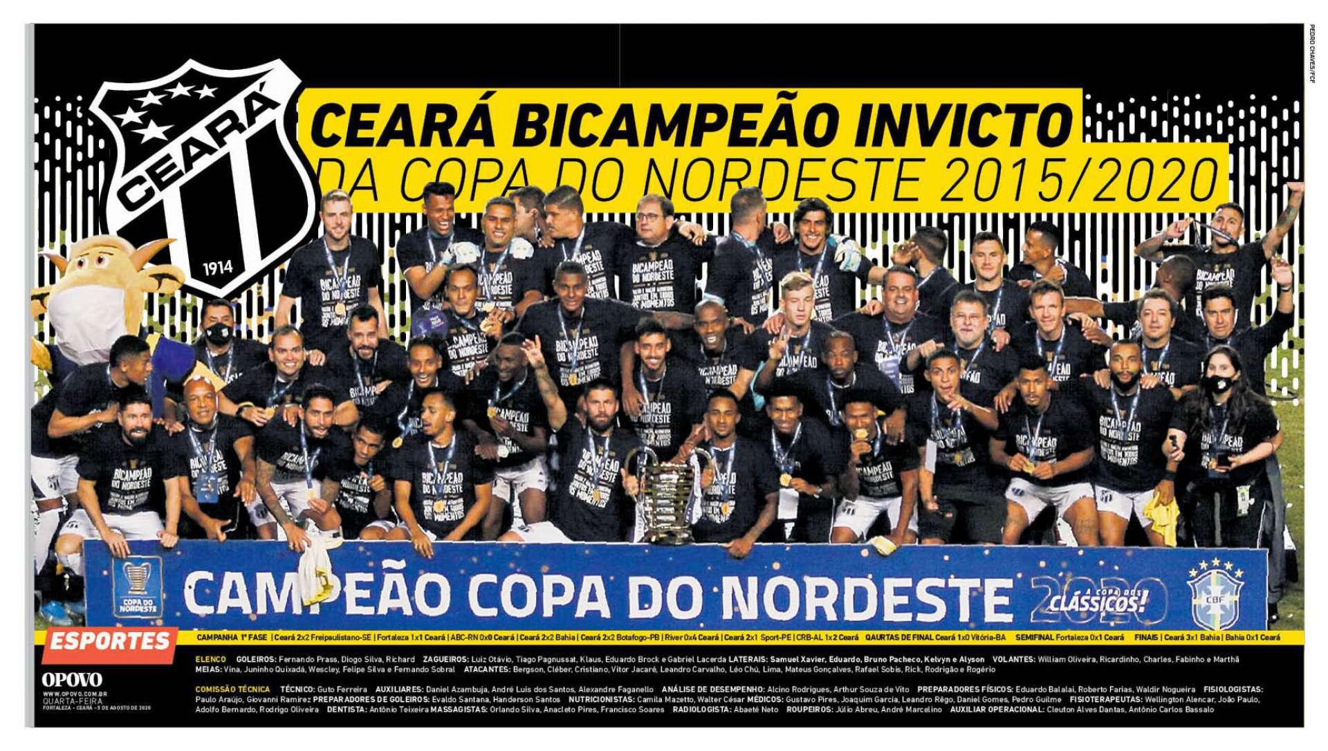 Baixe o pôster do Ceará, campeão da Copa do Nordeste 2020 | Ceará ...