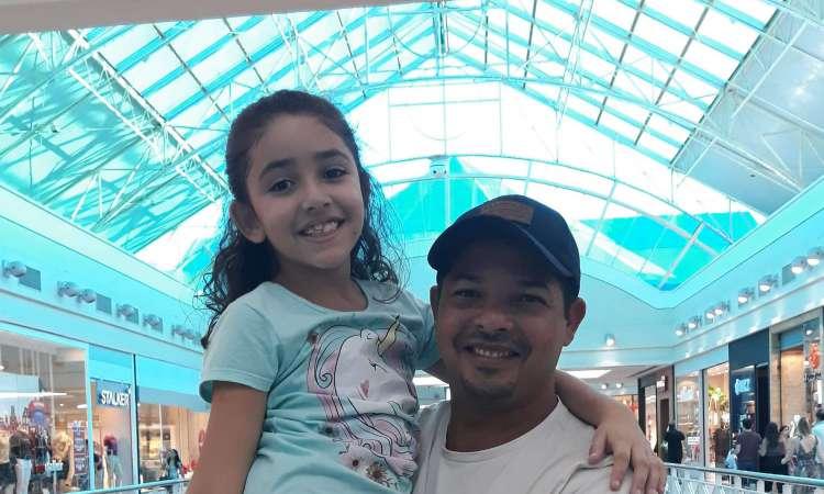 Kerson e a filha da Isabelly