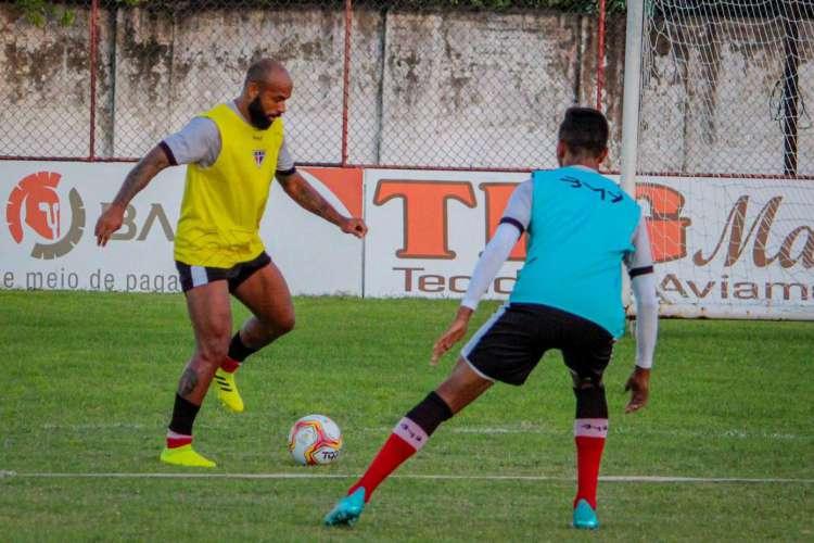 Ferroviário irá finalizar treinos preparativos neste sábado, 8, para duelo contra o Botafogo-PB (Foto: Lenilson Santos/ Ferroviário AC)