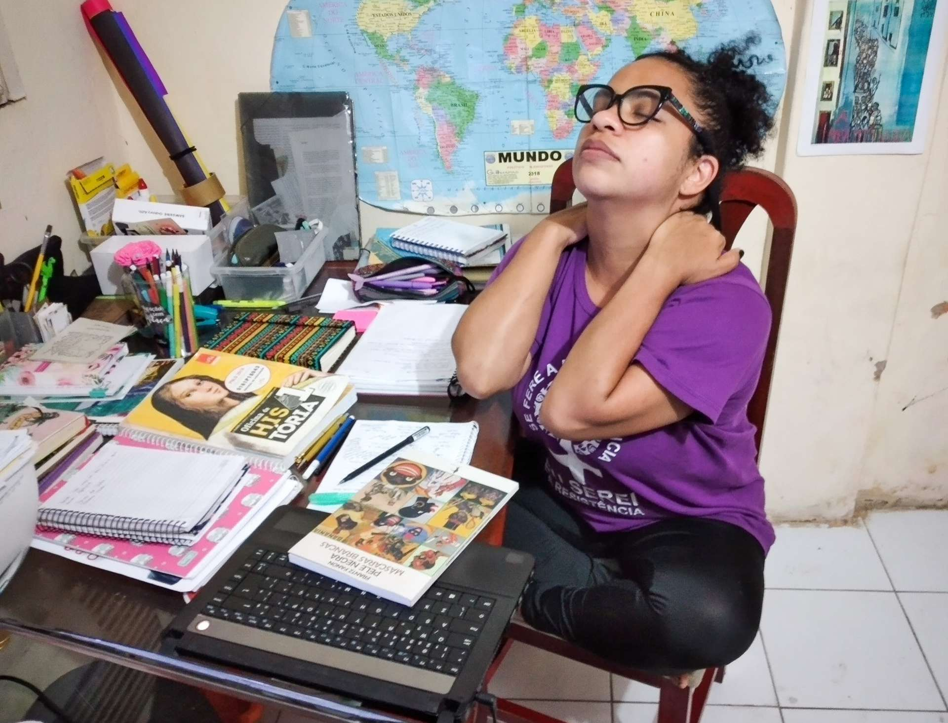 CÍCERA Barbosa, 35, professora da rede estadual: sobrecarga física e emocional durante a pandemia
