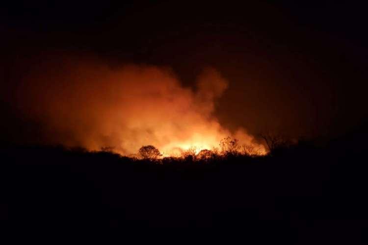 Incêndios são registrados por três dias seguidos na Região Norte (Foto: Corpo de Bombeiros do Ceará)