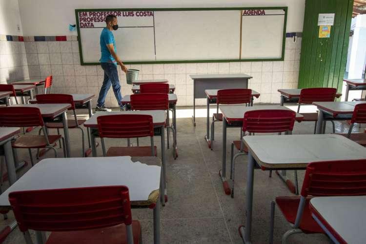 SALA DE AULA: retorno das aulas presenciais está previsto para setembro no Ceará, mas opção de aulas remotas será mantida  (Foto: FCO FONTENELE)