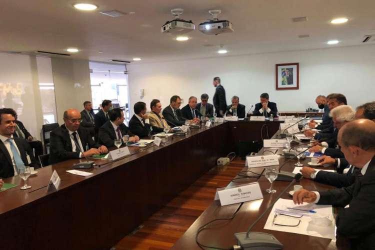 Reunião de comitiva cearense com ministros (Foto: Divulgação)