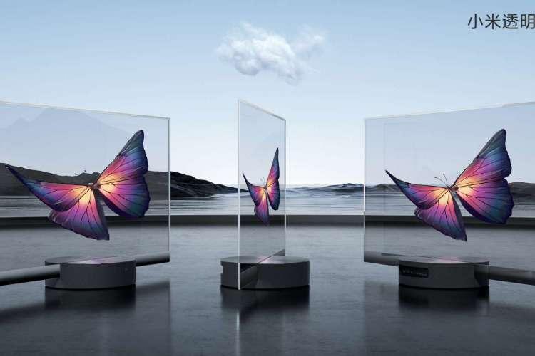 Mi TV Lux OLED Transparent Edition permite ver o que está atrás da tela e promete