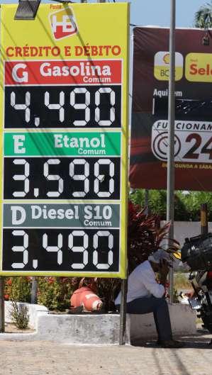 Preço da gasolina sobe em Fortaleza (Foto: Fábio Lima)