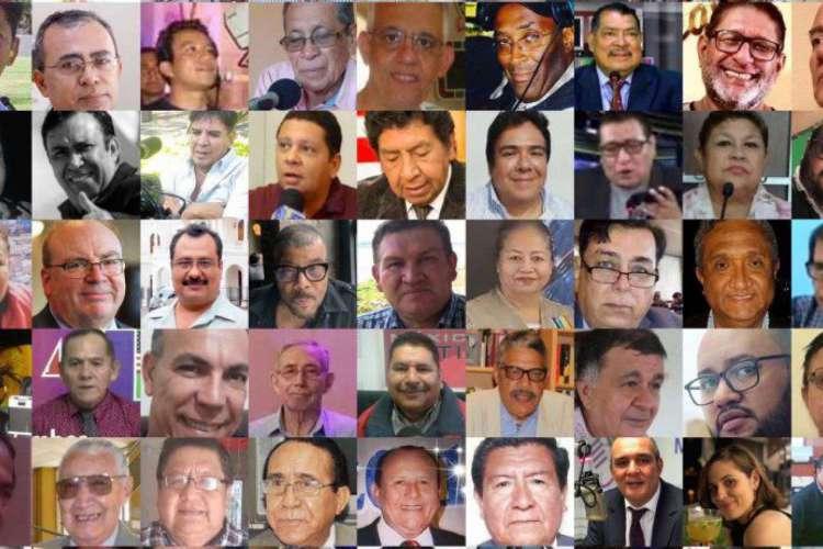 106 jornalistas vítimas de coronavírus são homenageados com o prêmio Liberdade de Imprensa da Associação Interamericana de Imprensa. Dois deles são cearenses (Foto: Reprodução Associação Interamericana de Imprensa)