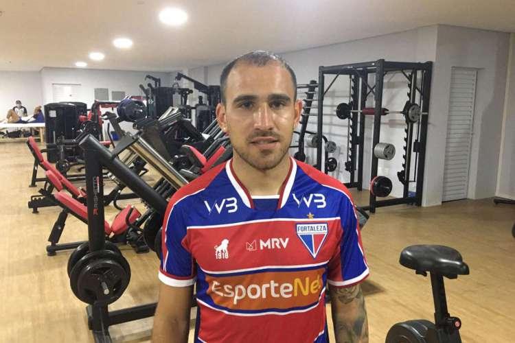 O atacante argentino  Franco Fragapane é o nono reforço do Fortaleza para a temporada 2020  (Foto: Fábio Marques/ FortalezaEC)