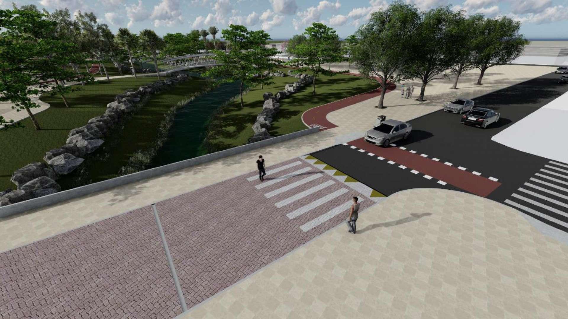 O projeto prevê também o tratamento hídrico das águas do riacho, para eliminar poluentes