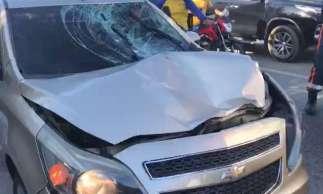 Carro atropelou a vítima, que conduzia bicicleta