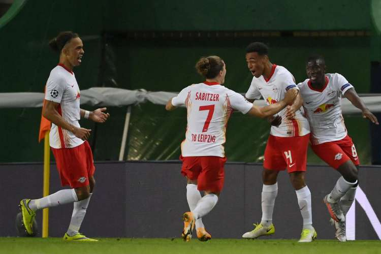 RB Leipzig despacha o Atlético de Madrid e vai para semifinal da Champions League 2020  (Foto: LLUIS GENE / POOL / AFP)