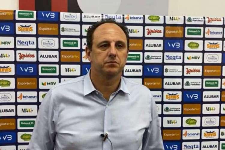 Rogério Ceni, treinador do Fortaleza (Foto: Reprodução/Leão TV)
