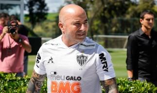 No comando do Atlético-MG, o técnico Sampaoli soma seis vitórias e um empate. (Foto: Bruno Cantini/ Atlético-MG)