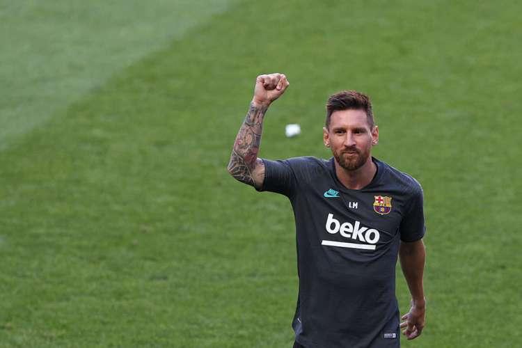Lionel Messi deve continuar no Barcelona, segundo TV espanhola (Foto: RAFAEL MARCHANTE / POOL / AFP)