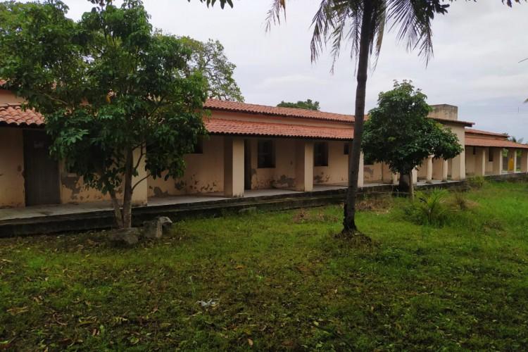Um dos pavilhões do Centro de Convivência Antônio Justa, em Maracanaú, atualmente (Foto: DIVULGAÇÃO Coletivo Antônio Justa Presente)