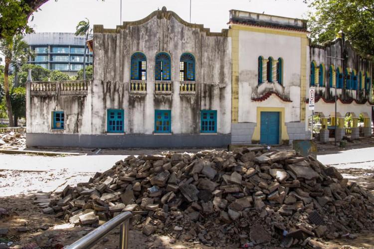 Obras de requalificação do Parque da Criança querem recuperar estrutura original  (Foto: Thais Mesquita)