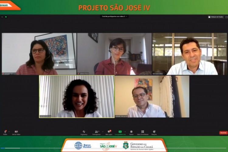 Webinário teve a participação do titular da SDA, com técnicos da pasta e representantes do Banco Mundial (Foto: DIVULGAÇÃO/SDA )
