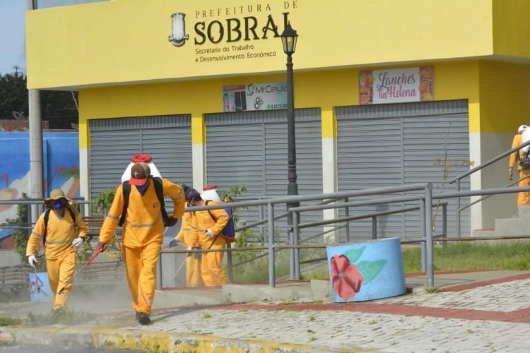 Limpeza em Sobral contra o coronavírus (Foto: Divulgação/Prefeitura de Sobral)