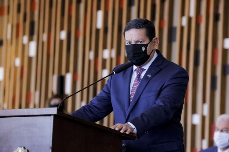 O Vice-Presidente da República, Hamilton Mourão, resolveu não se posicionar sobre polêmica envolvendo Bolsonaro (Foto: Romério Cunha/VPR)