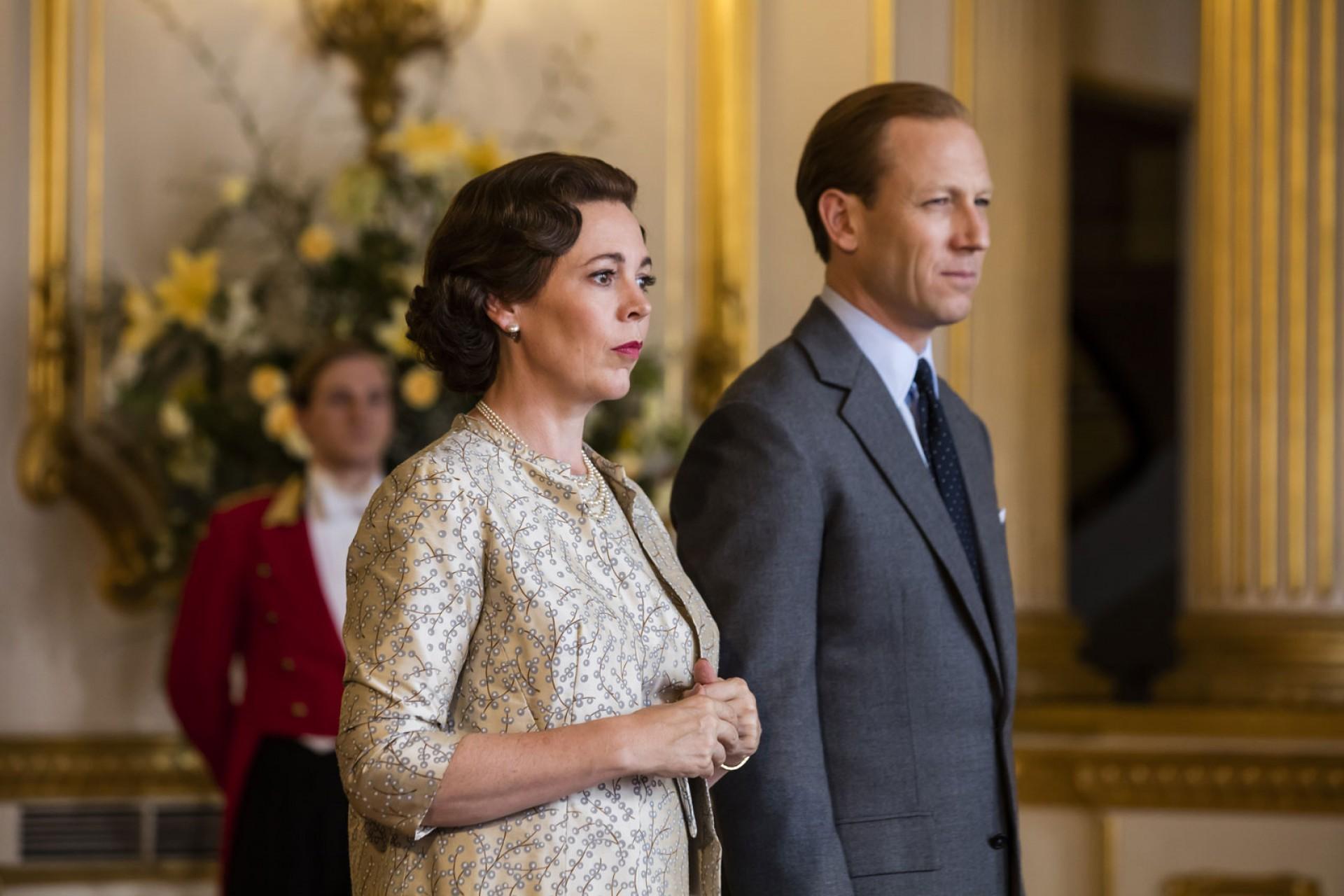 (Foto: Sophie Mutevelian/Netflix)Olivia Colman e Tobias Menzies continuam nos papeis de Rainha Elizabeth II e Príncipe Philip na quarta temporada de 'The Crown'