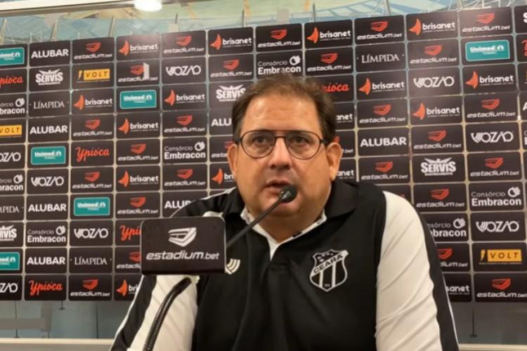Guto Ferreira cedeu coletiva online após vitória diante do Bahia (Foto: Vozão TV/ Reprodução)