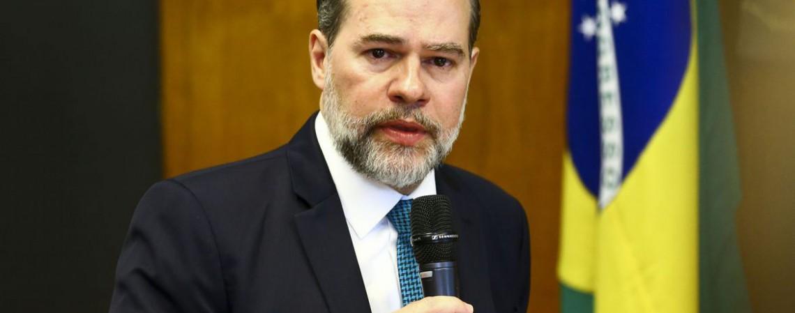O presidente do Supremo Tribunal Federal, Dias Toffoli, durante reunião com o presidente da Câmara dos Deputados, Rodrigo Maia. (Foto: Marcelo Camargo/Agência Brasil)