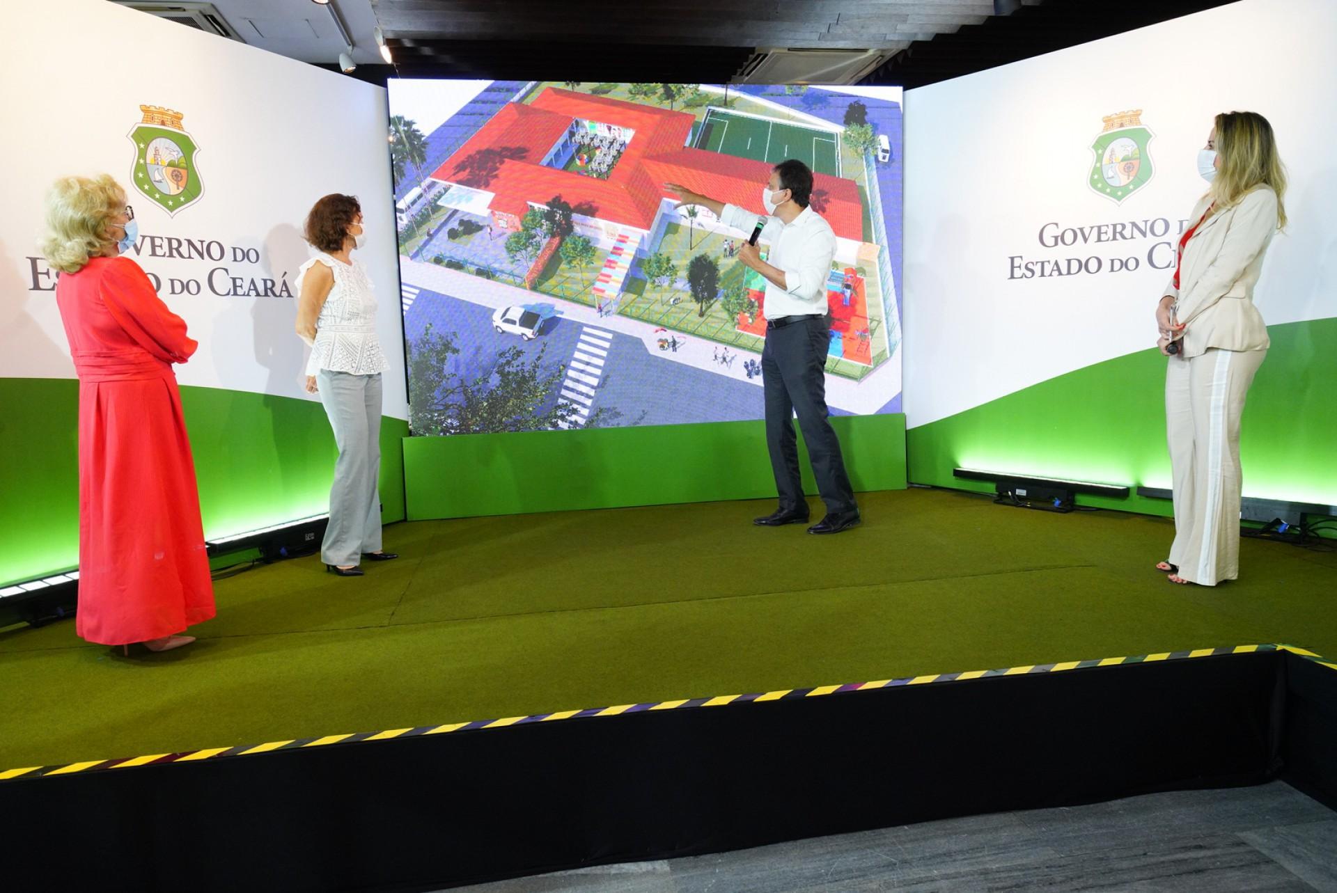 GOVERNADOR apresenta maquete eletrônica dos centros que beneficiarão 32 municípios  (Foto: Carlos Gibaja/Governo do Ceará)
