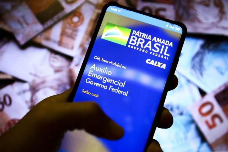 Aplicativo auxílio emergencial do Governo Federal. (Foto: Marcelo Camargo/Agência Brasil)
