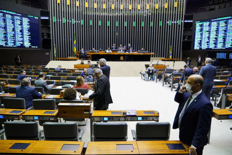 Plenário em votação de vetos durante sessão do Congresso (Foto: pablo valadares/agência câmara)