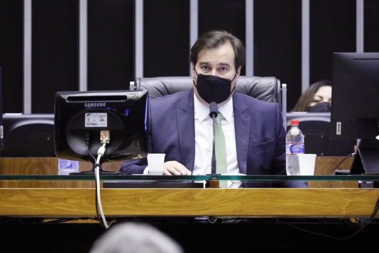 Maia se manifestou sobre a situação do governo do Rio de Janeiro durante live promovida pela Apex Partners nesta quarta-feira, 2 (Foto: Michel Jesus/Câmara dos Deputados)